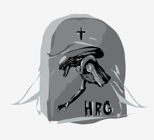 funkfu illustration martin svoboda h.r. giger alien r.i.p.