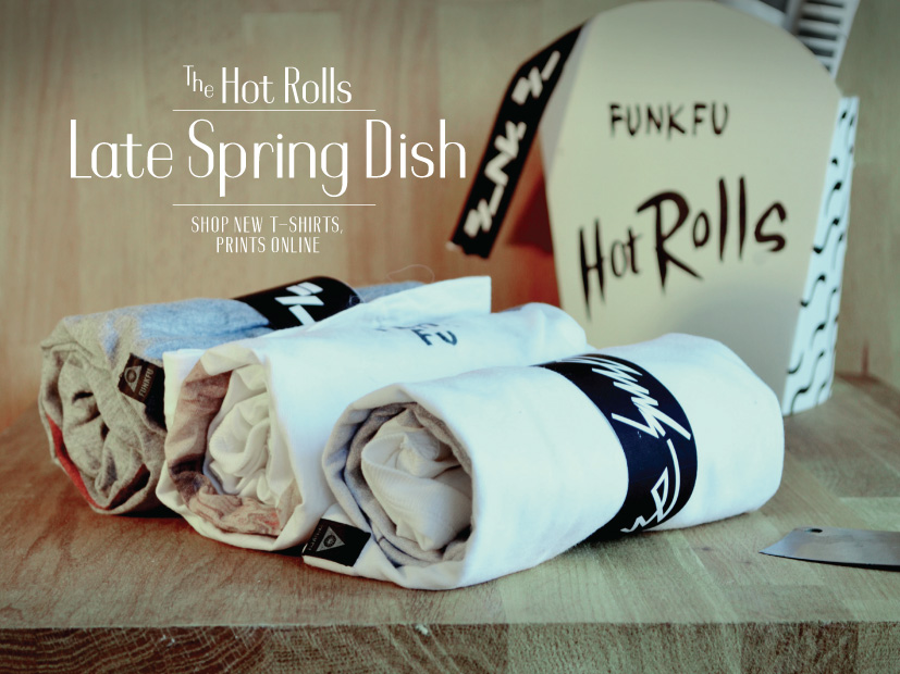 FUNKFU t-shirt collection spring rolls